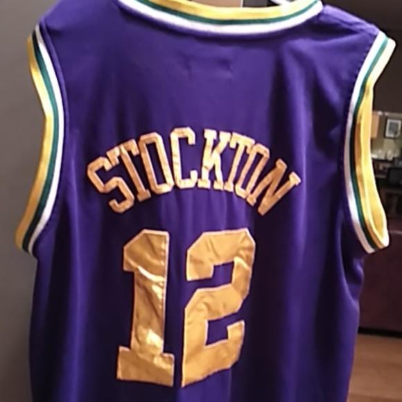 innovative design 5fe2c 0065a Utah Jazz Stockton #12 basketball jersey
